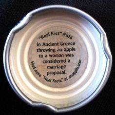 Snapple Real Fact #816