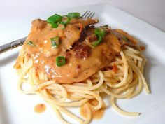 Sun-dried Tomato Chicken Over Pasta ... the sauce in this recipe is amazing!!!