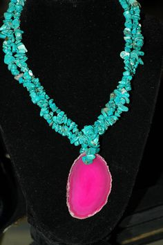 Bib Necklace Layered Turquoise Necklace with by stylelovers