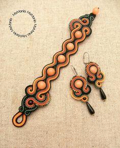 Soutache Bracelet, Soutache Jewelry, Leather Jewelry, Boho Jewelry, Handmade Jewelry, Tassel Earrings, Beaded Necklace, Shibori, Beaded Embroidery