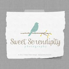 Photography Logo and Watermark - Bird - Sweet Serendipity Collection. $25.00, via Etsy.