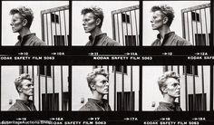 Two of the photos taken by German photographer Helmut Newton have been seen before but the remaining 34 are being unveiled to the public for the first time. David Bowie.