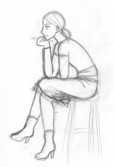 New Drawing People Sitting Pose Reference Character Design Ideas Sketch Poses, Drawing Poses, Drawing Sketches, Drawings, Sketch Art, Girl Face Drawing, Person Drawing, Drawing People, Figure Sketching