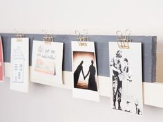 DIY-Geschenkidee: Fotoleiste für den Freund zu Weihnachten selber bauen, Deko für Dein Zuhause / DIY-gift idea: craft a photo bar for your boy friend for christmas, home accessory via DaWanda.com