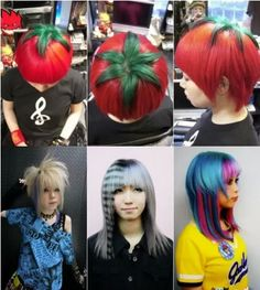Well this funny hairstyles are specially designed in Tokio, Japan my the teens which don't give a fu...