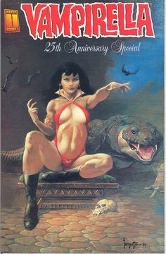 Frank Frazetta - Vampirella 25th Anniversary Special Cover
