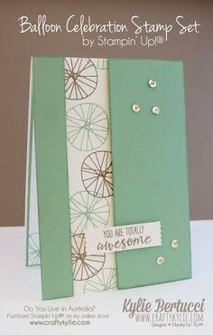 Stampin' Up! Australia: Kylie Bertucci Independent Demonstrator: Global Design Project #027 - Balloon Celebration