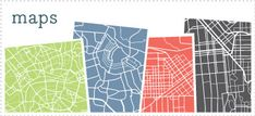 Maps for any city graphic prints - you choose the color and size. What a great gift these would make!