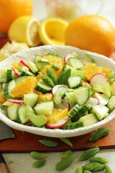 Fresh spruce tips are a short-season spring offering.Toss a few into this citrus spruce tip salad for a unique treat with a delicate herby flavor. Best Salad Recipes, Soup Recipes, Vegan Recipes, Vegan Meals, How To Make Salad, Food To Make, Spruce Tips, Salad Dishes, Dinner Salads