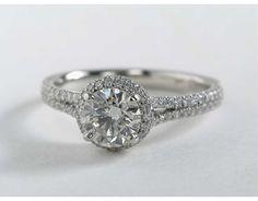 1 Carat Diamond Blue Nile Studio Cambridge Halo Diamond Engagement Ring | Blue Nile Engagement Rings
