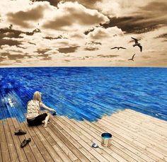Όταν όλα γύρω είναι γκρίζα χρωμάτισε εσύ γύρω σου το μπλε της θάλασσας !!!  Όλα στο μυαλό μας είναι ...