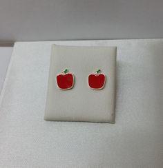 Apfel-Ohrstecker Ohrringe 925 Silber KO144 von myduttel auf Etsy