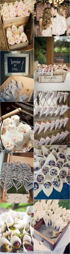 unique wedding ideas - wedding exit confetti moss send off ideas…