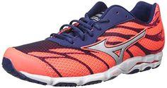 best cheap 28050 084e6 Mizuno Women s Wave Hitogami 3 Running Shoe, Fiery Coral Blue Depths, 7 B US
