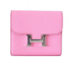 f2a7e96e2bf0 View this item and discover similar clutches for sale at - Extraordinarily  beautiful and rare Hermes Constance wallet in Pink Epsom Palladium hardware.