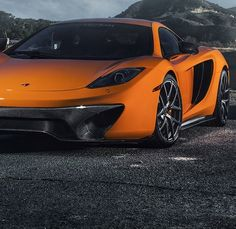 Orange car Mc Laren MP4 12C