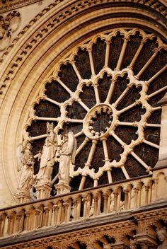 Ile de la Cité, Rose Window at Notre-Dame, Paris IV