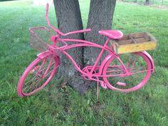The hot pink bike with old skool coke crate