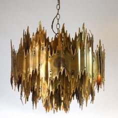 My Brutalist chandelier.  I still have not figured out where to hang it!