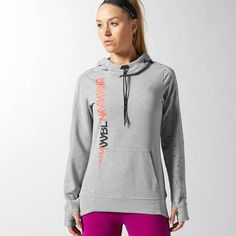 Reebok CrossFit Community French Terry Hoodie ($50) ❤ liked on Polyvore  featuring activewear,