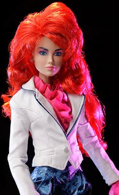 Kimber Benton Jem and the Holograms doll by Integrity Toys.  From the second wave of Integrity's Jem line (approx. ship date March 2013).  Original retail - 119 dollars.  #jemdoll
