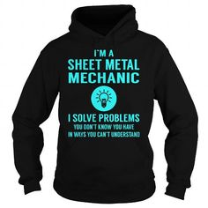 Sheet Metal Mechanic I Solve Problem Job Title Shirts LIMITED TIME ONLY. ORDER NOW if you like, Item Not Sold Anywhere Else. Amazing for you or gift for your family members and your friends. Thank you! #sheet #metal #workers