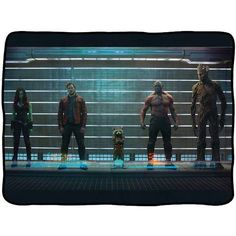 Guardians of the Galaxy Lineup Fleece Throw Blanket - Surreal Entertainment - Guardians of the Galaxy - Bed and Bath at Entertainment Earth