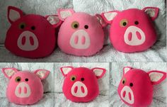Decorative Pig Pillow Made to Order by EvelynX on Etsy https://www.etsy.com/listing/178760023/decorative-pig-pillow-made-to-order