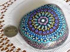 Hand painted rock. by OreAndMore on Etsy