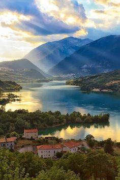Lake Barra, Abruzzi, Italy