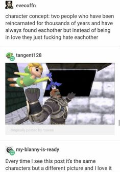 We were always meant to be... Enemies  Zelda Windwaker, Ganon, Link, Video Game, Gaming Meme, Funny Gaming