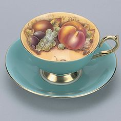 Aynsley Collectors Cups & Saucers Athens - Turquoise