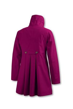Need a new raincoat that isn't a trench and isn't REI / MEC looking to wear with dresses. Don't like this pink, but ithe back is cute.