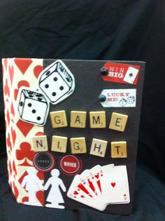 Another Kathy Orta inspired scrapbook album Game Night