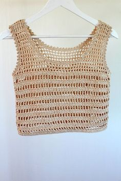 Débardeurs Au Crochet, Crochet Crop Top, Crochet Woman, Crochet Blouse, Crochet Bikini, Cotton Crochet, Beach Crochet, Festival Mode, Festival Fashion