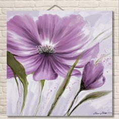 Fotos de flores En La Pared para la Sala de estar Decorativa 100% Flores Pintadas A mano Pinturas Al Óleo de Acrílico Floral Arte de La Pared En lienzo
