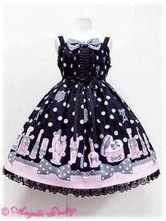 Fantastic Dolly High Waist JSK Black, Pink or Lavender, 2010