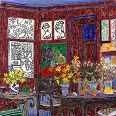 """Matisse's Studio, Vence,"" 2007-15, mixed media on canvas, 60"" x 60"" (152 x 152…"