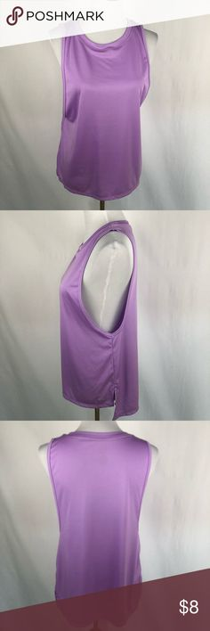 Violet champion workout wide arm tank large duodry Gently used  Smoke free, pet friendly home. Make sure to check out my other listings, thanks for looking! Champion Tops Tank Tops