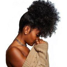 Afro Kinky Curly Ponytails Extensions Brazilian Clip In Human Hair Ponytails Natural Hair Prosa Hair Products Remy - List of the best Women's Hairstyles Curly Hair Styles, Kinky Curly Hair, Curly Girl, Curly Bun, Frizzy Hair, Curly Ponytail Weave, Puff Ponytail, Short Ponytail, Ponytail Wrap