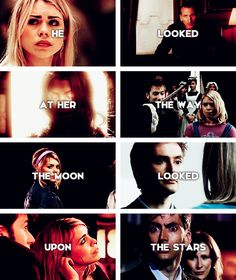 The Doctor + Rose Tyler: with one accord but perfectly surpassed #doctorwho