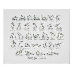 Pick your perfect Bunny wedding program with Zazzle. Learn Yoga, How To Do Yoga, Yoga For Kids, Exercise For Kids, Yoga Flow, Yoga Meditation, Yoga Sequences, Yoga Poses, Bunny Yoga