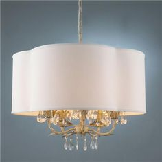 Quatrefoil Shaded Chandelier