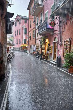 Monterosso in the rain - Cinque Terre, Italy