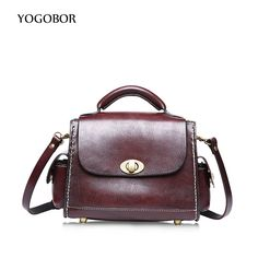 2017 New Arrival Vintage Tote Bag Women Genuine Leather Handbags Doctor Bag Ladies Party Shoulder Bags Fashion Top-Handle Bags