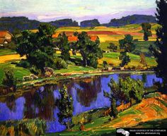 Reflections  William Wendt - 1927