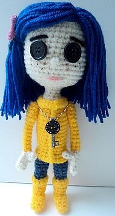 crochet pattern - coraline doll from coraline