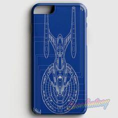 Star Trek Spaceship Blueprint iPhone 6 Plus/6S Plus Case   casefantasy