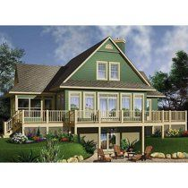 Cottage House Plan with Walkout Basement Printed Sets) Image 1 of 5 plans Lake House Plans, Basement House Plans, Walkout Basement, Cottage House Plans, Basement Renovations, Cottage Homes, Farm House, Basement Entrance, Cottage Pie
