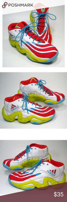 581941634a8 Adidas Original Real Deal Basketball Shoes Mens Adidas Original Real Deal Basketball  Shoes White Red